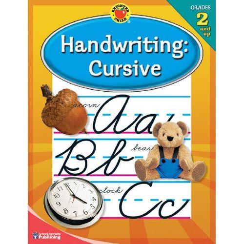 Brighter Child Handwriting: Cursive: Grades 2 and Up, School Specialty Publishing: Children's Books : Walmart.com