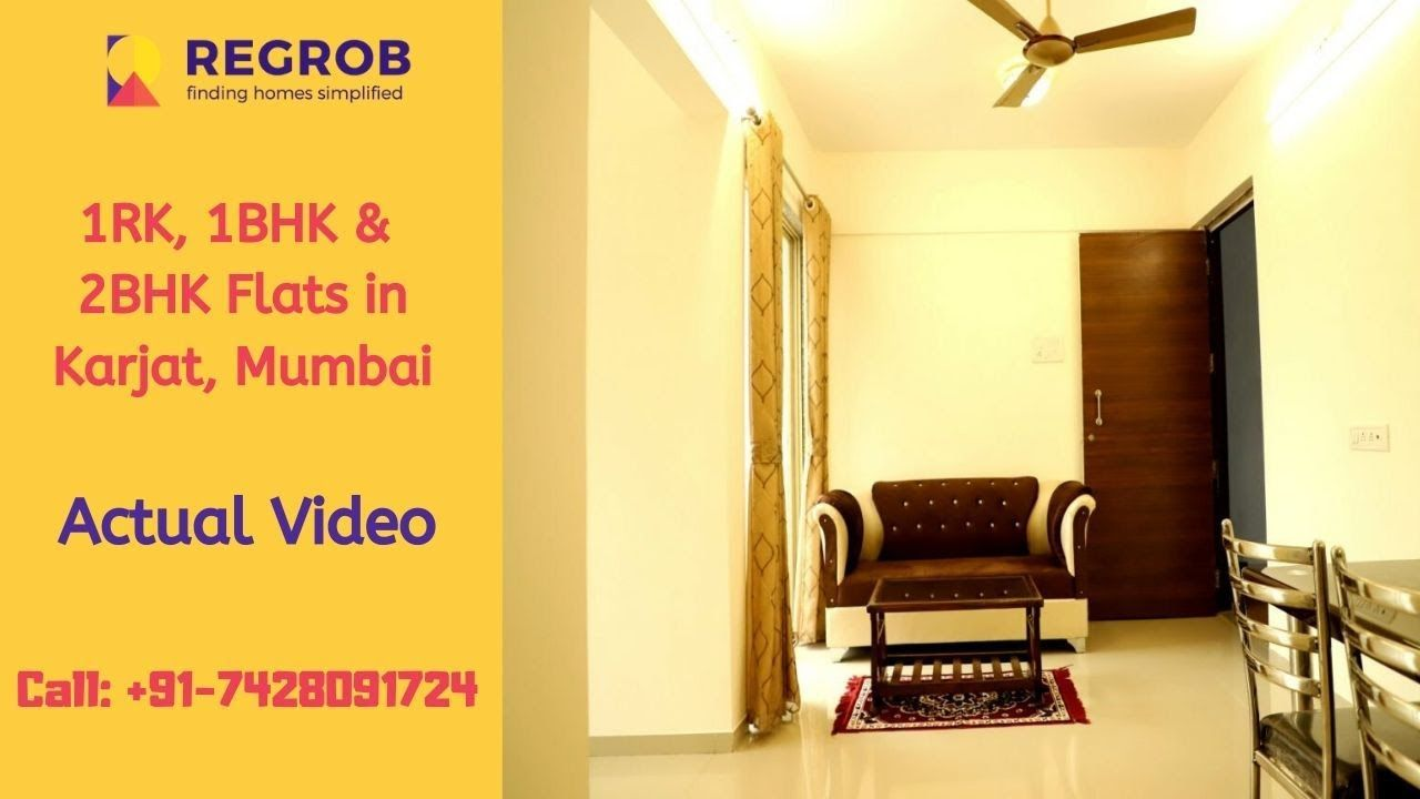 1 Rk 1 Bhk 2 Bhk Flats For Sale In Karjat Mumbai Actual Video Price 14 Lacs In 2020 Affordable Flats Flats For Sale Mumbai