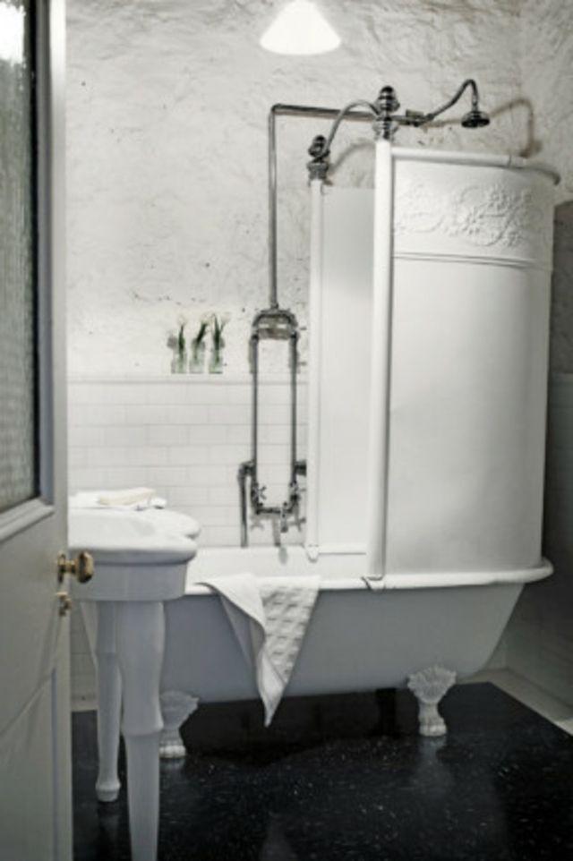 Baignoire ancienne pour une salle de bains retro Shabby, Small