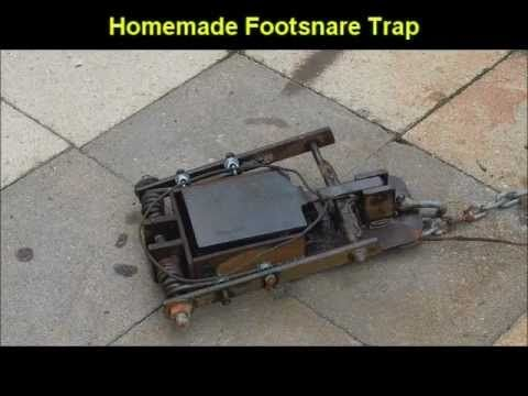 Homemade Foot Snare - Animal trapping - YouTube
