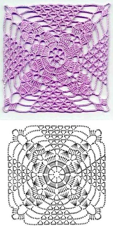 patrones de ganchillo | Cuadrados De Ganchillo | Pinterest | Patrón ...
