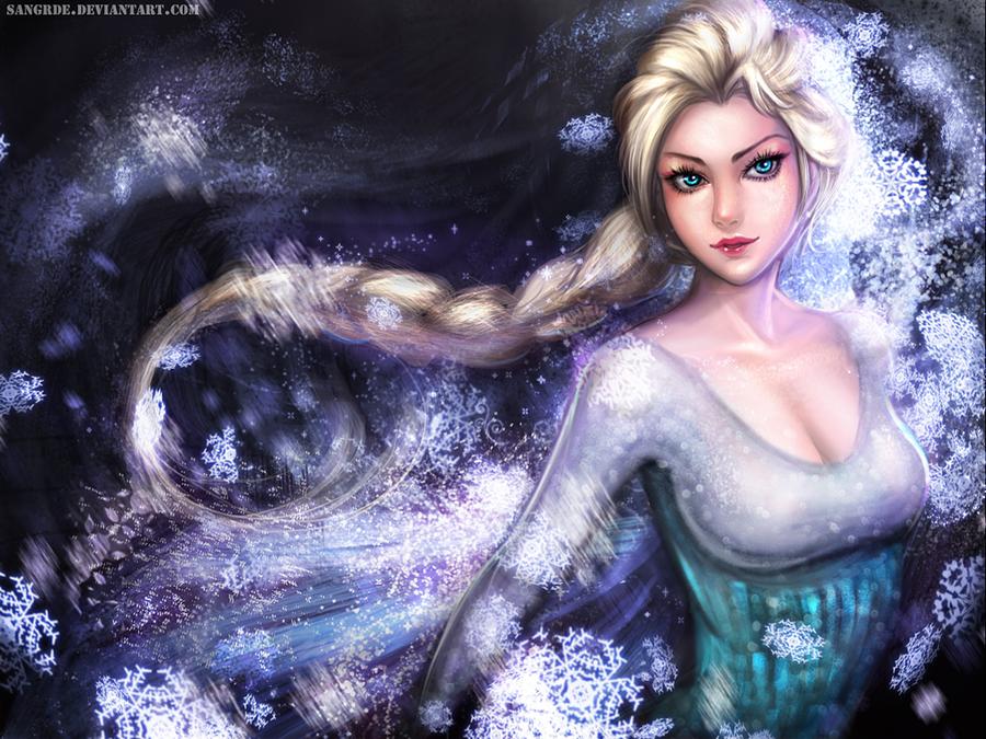 Elsa The Snow Queen Wallpaper