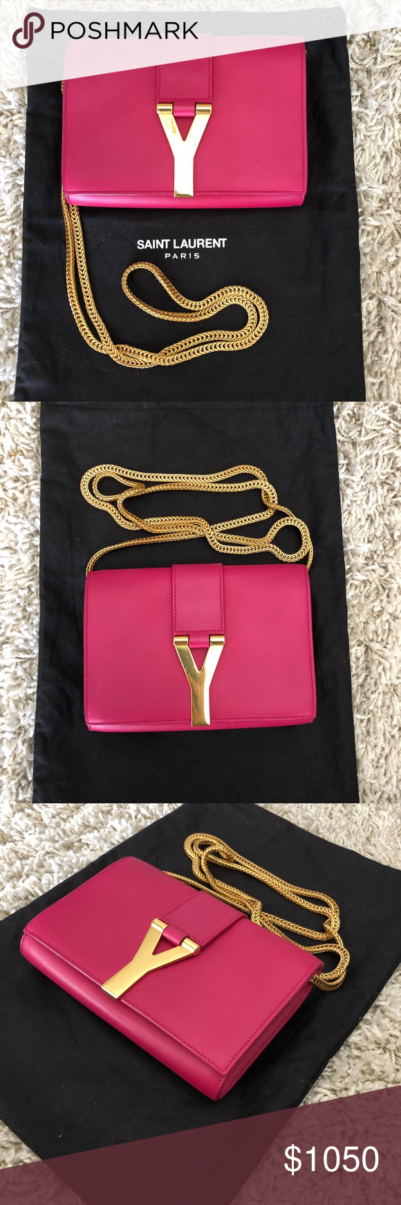 bd85cb6b68 YSL Y Ligne Mini Pochette Crossbody Bag Overall Condition  Gently used  Exterior Condition  Gently
