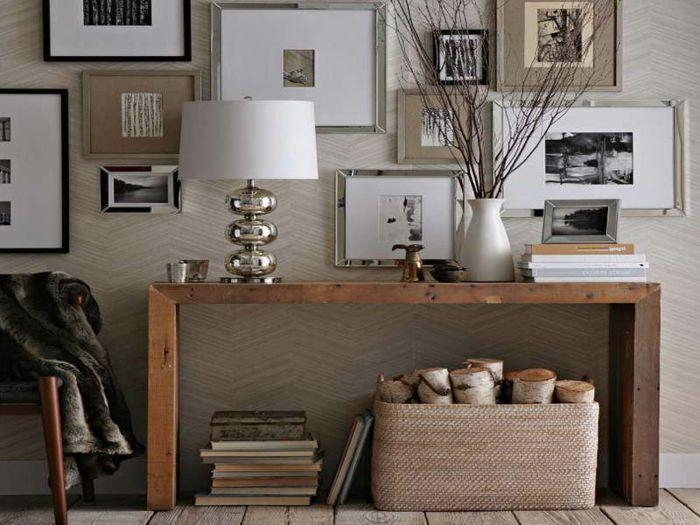 einrichtungsideen flur sch ne ideen f r eine diele mit tisch pinterest einrichtungsideen. Black Bedroom Furniture Sets. Home Design Ideas