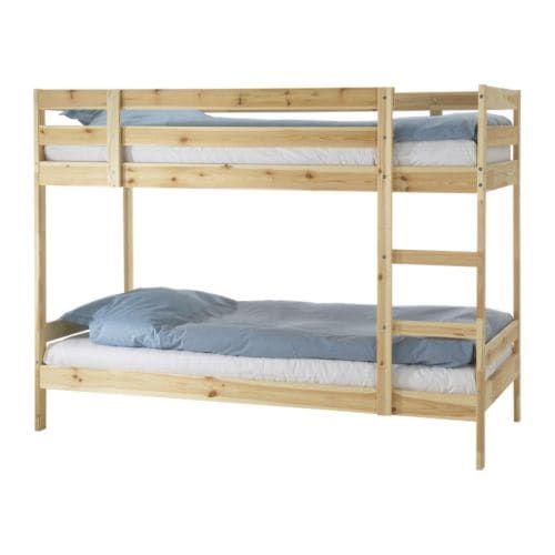 Mydal Pine Bunk Bed Frame 90x200 Cm Ikea In 2020 Ikea Bunk Bed Hack Ikea Bunk Bed Bunk Beds