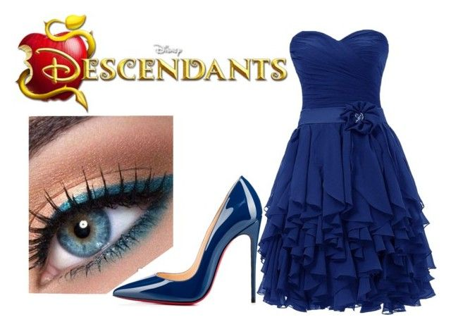 """Lily Radcliffe - Descendants OC - Date Night"" by im-a-wizard on Polyvore featuring Christian Louboutin, women's clothing, women's fashion, women, female, woman, misses and juniors"