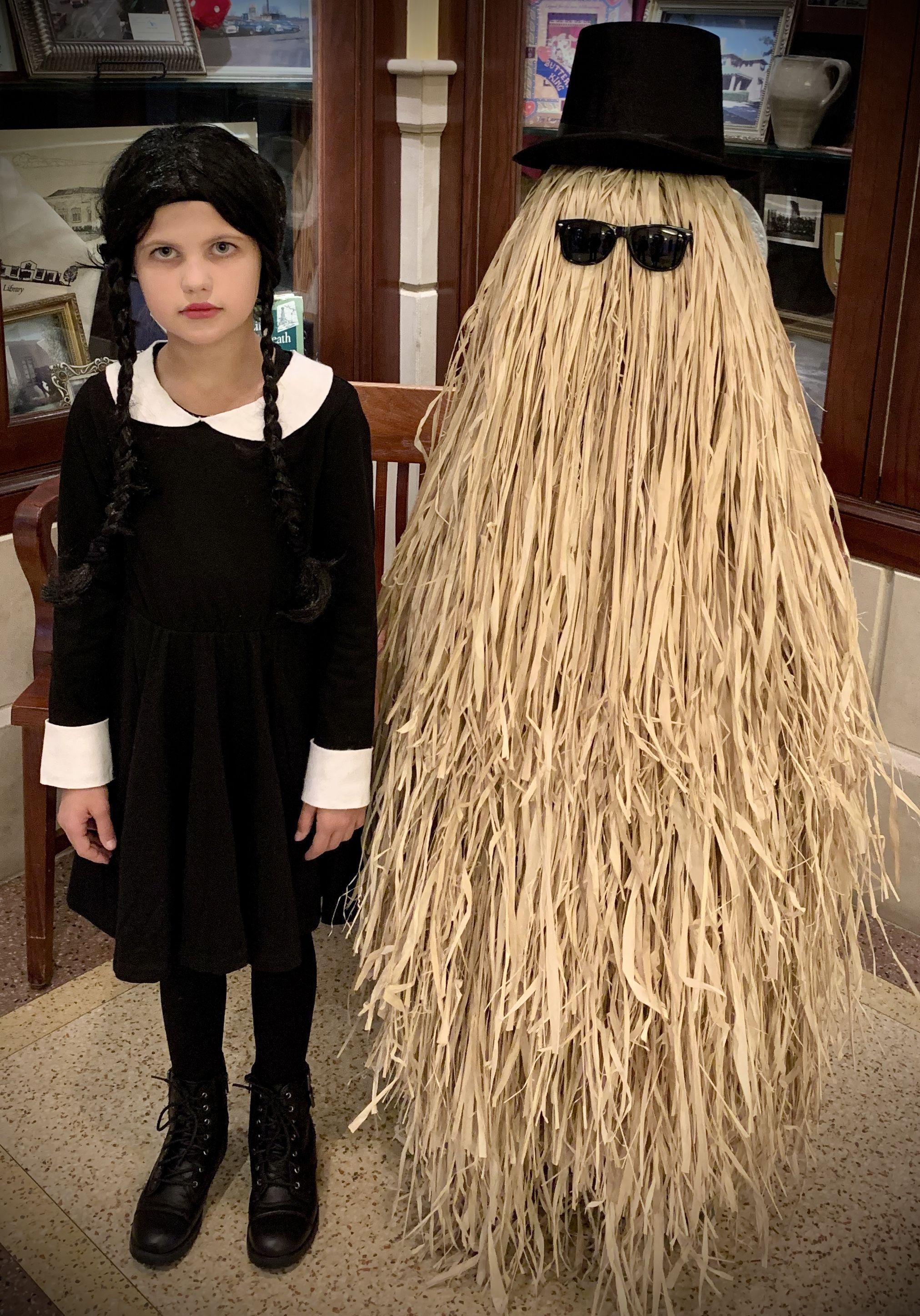 Halloween Contest Winner 2020 Wednesday Addams and Cousin It Halloween costume Contest winners