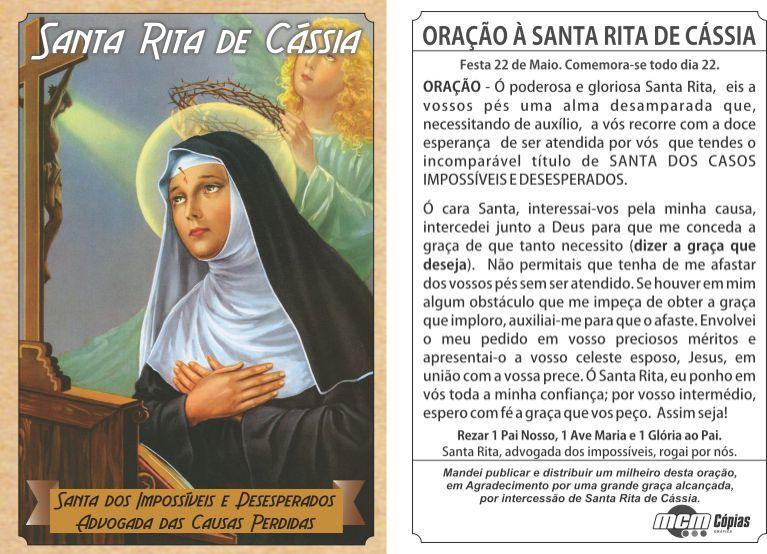 Resultado de imagem para Oração a Santa Rita de Cassia