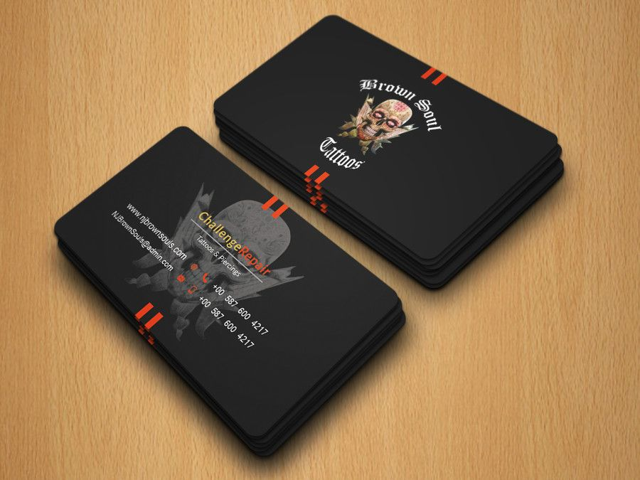 Entry 18 By Robiul215 For Tattoo Shop Business Card Design Tattoo Shop Business Card Design Visiting Card Design