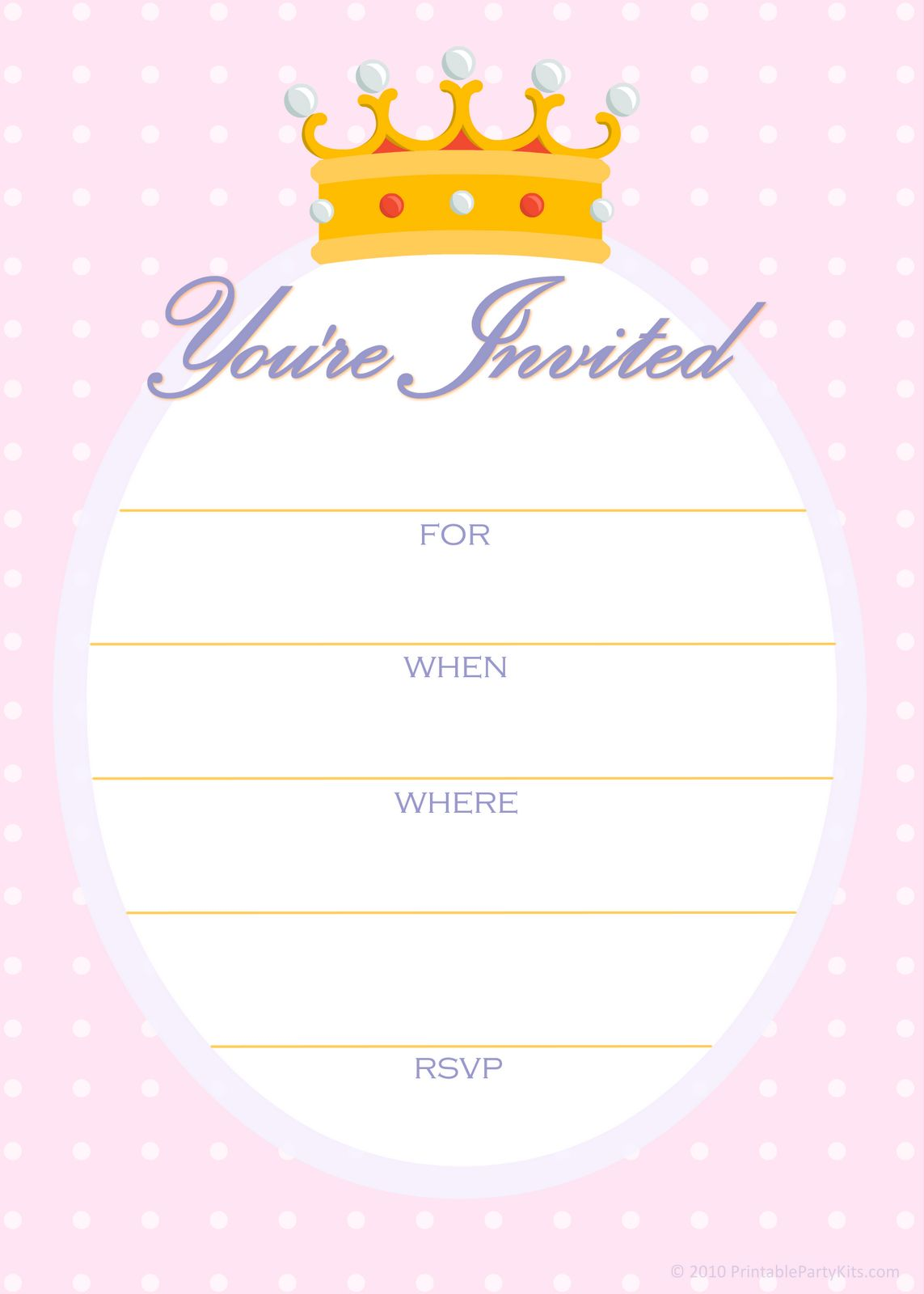 Create Easy Party Invitation Template Printable | Invitstiond by Own ...