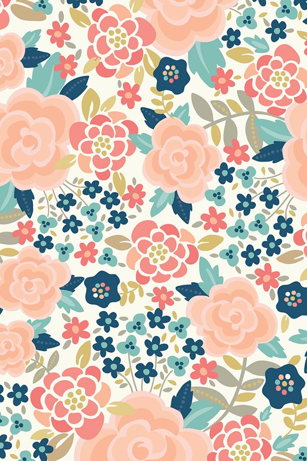 Colorful fabrics digitally printed by Spoonflower Pretty