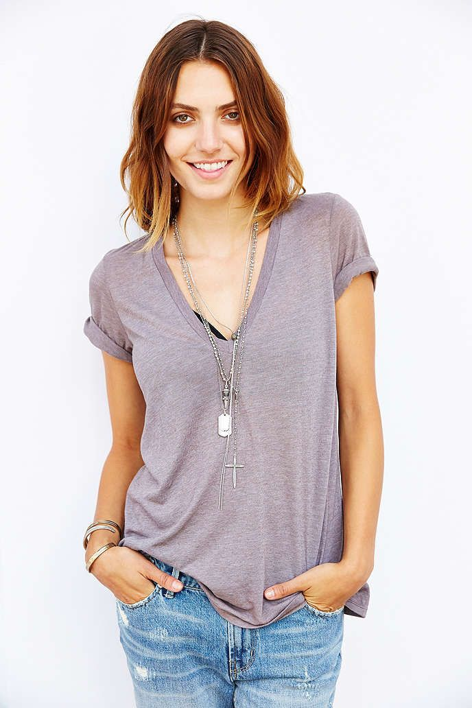 Truly Madly Deeply Rock Band V-Neck Tee - Urban Outfitters