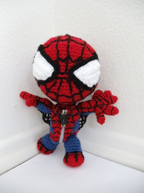 Spiderman Sackboy Amigurumi crocheted stuffed doll by YarrrnIt ...