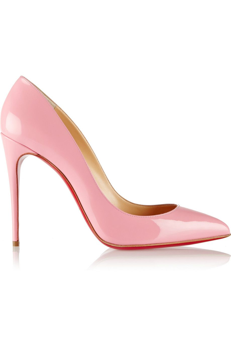 c550f463450 Christian Louboutin - Pigalle Follies 100 patent-leather pumps ...