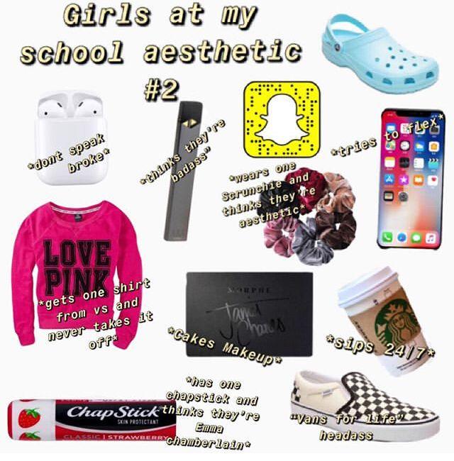Pin by Klrossi on School and life   White girl starter pack, Aesthetic memes, Basic white girl