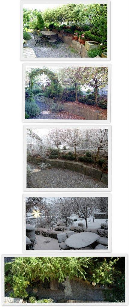 Reise durch die Jahreszeiten - der Bistrogarten