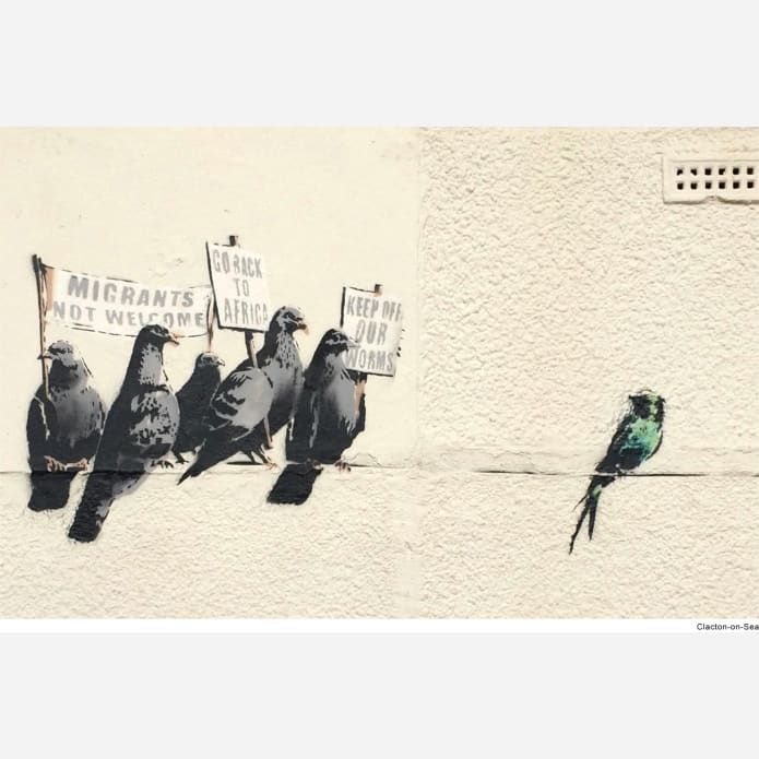 Banksy's famous Brexit mural mysteriously disappears from the side of a Dover building
