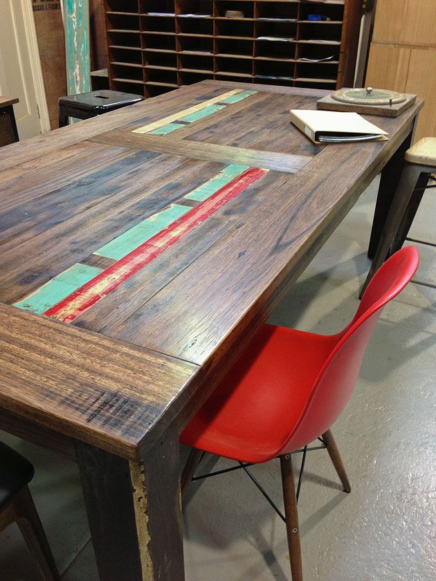 Recycled Timber Table Neel Dey Furniture Melbourne