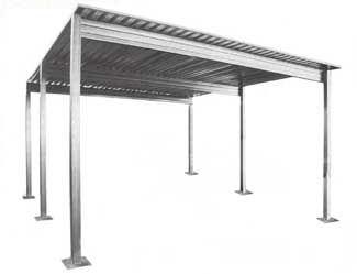 Absolute Steel S Single Slope 2 Car Carport Represents The Most Honest Free Standing Metal Carport Value In America E Carport Plans Diy Carport Steel Carports