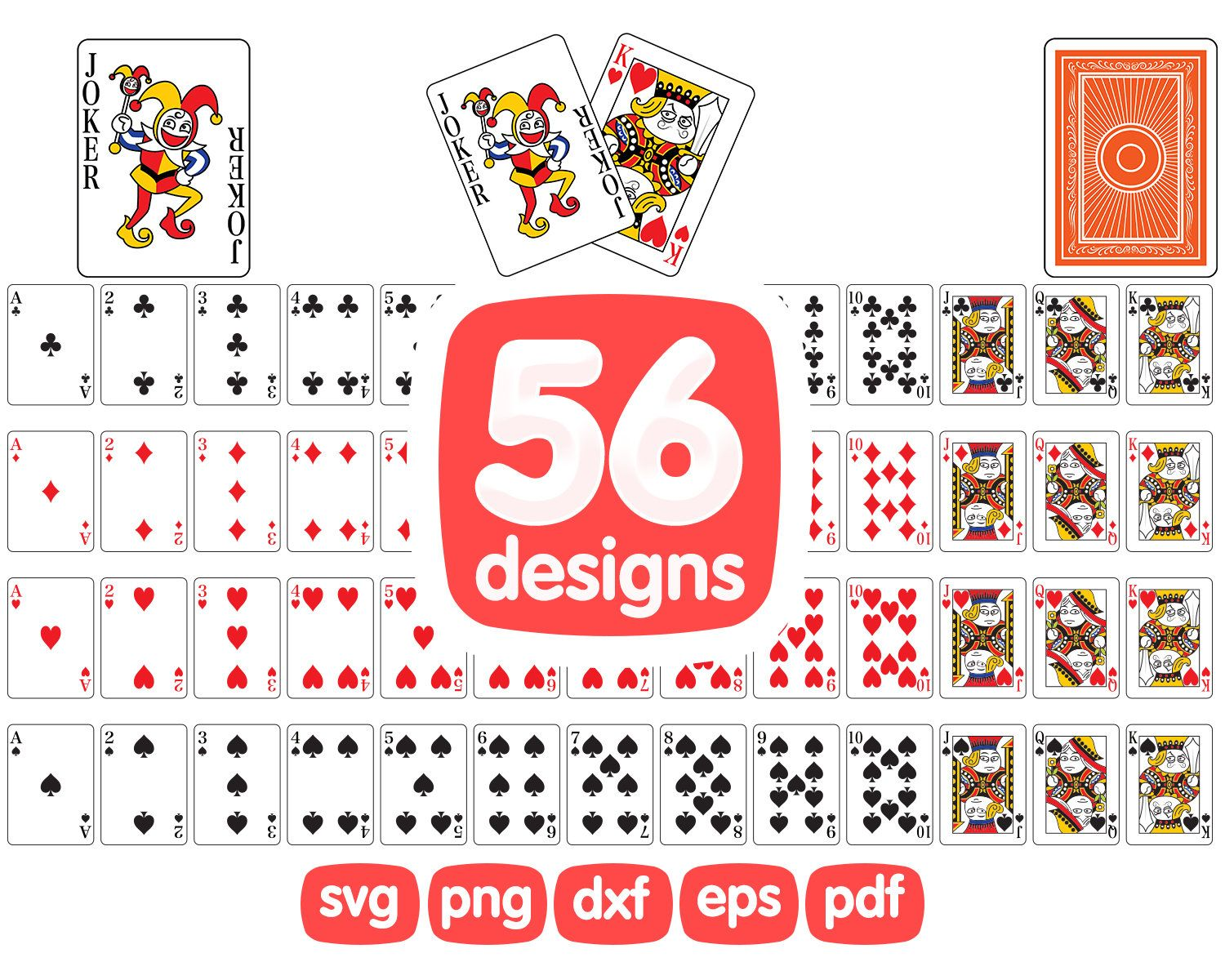 Playing cards clipart playing cards svg casino clipart