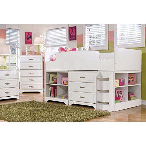 Signature Design by Ashley Lulu White Twin Loft Bed - $94733 Kids