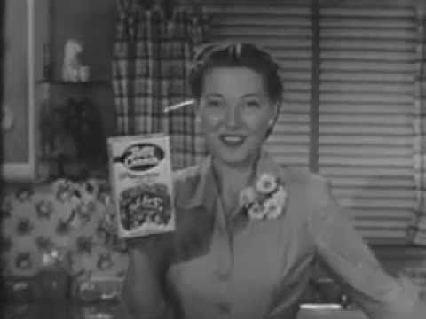 """VINTAGE 1953 BETTY CROCKER MARBLE CAKE COMMERCIAL - GREAT LOOKING """"BETTY..."""