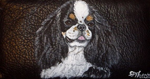 English Toy Spaniel Dog Custom Painted by daniellesoriginals, $18.95