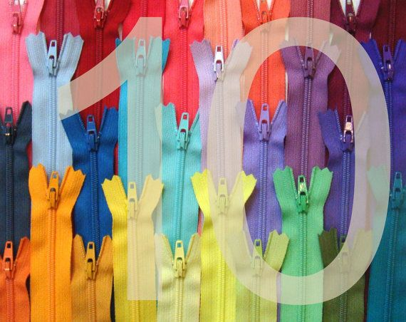Zippers Ykk Brand 10 Inch Zippers 50 Pieces Choose Your Colors