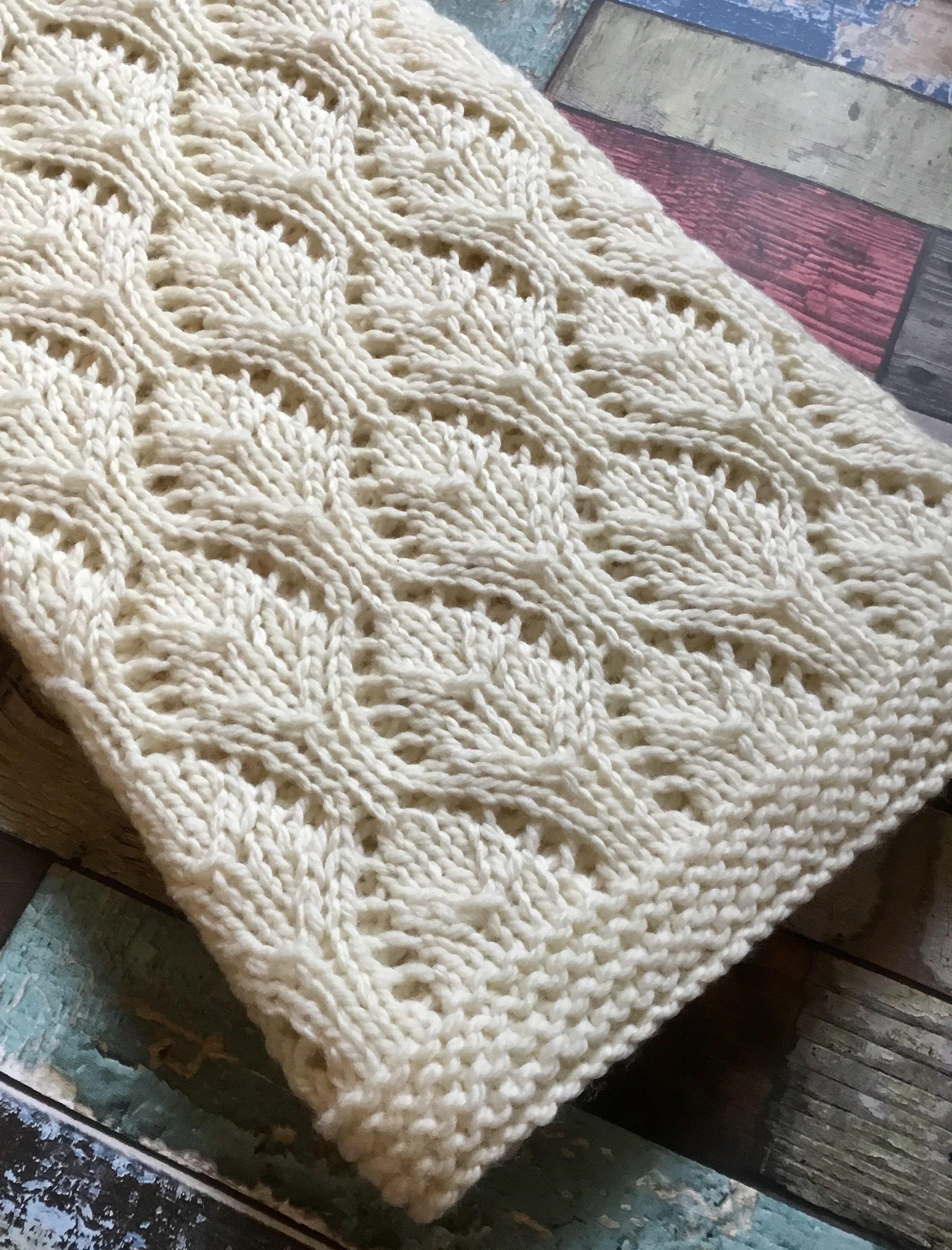 Merino baby blanket hand knit https://www.etsy.com/uk/listing ...