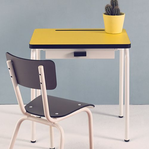 bureau enfant avec tiroir formica rgine les gambettes citron with customiser chaise formica. Black Bedroom Furniture Sets. Home Design Ideas