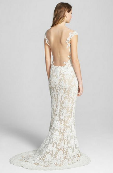 Reeme Acra Backless Wedding Gown