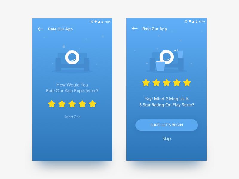 Rate The App Screen Grabon App App Mobile App Design Mobile App