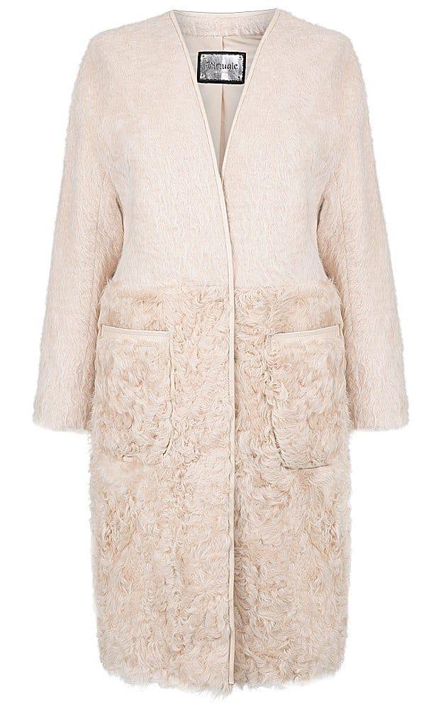 Кашемировое пальто с мехом козлика Virtuale Fur Collection ...