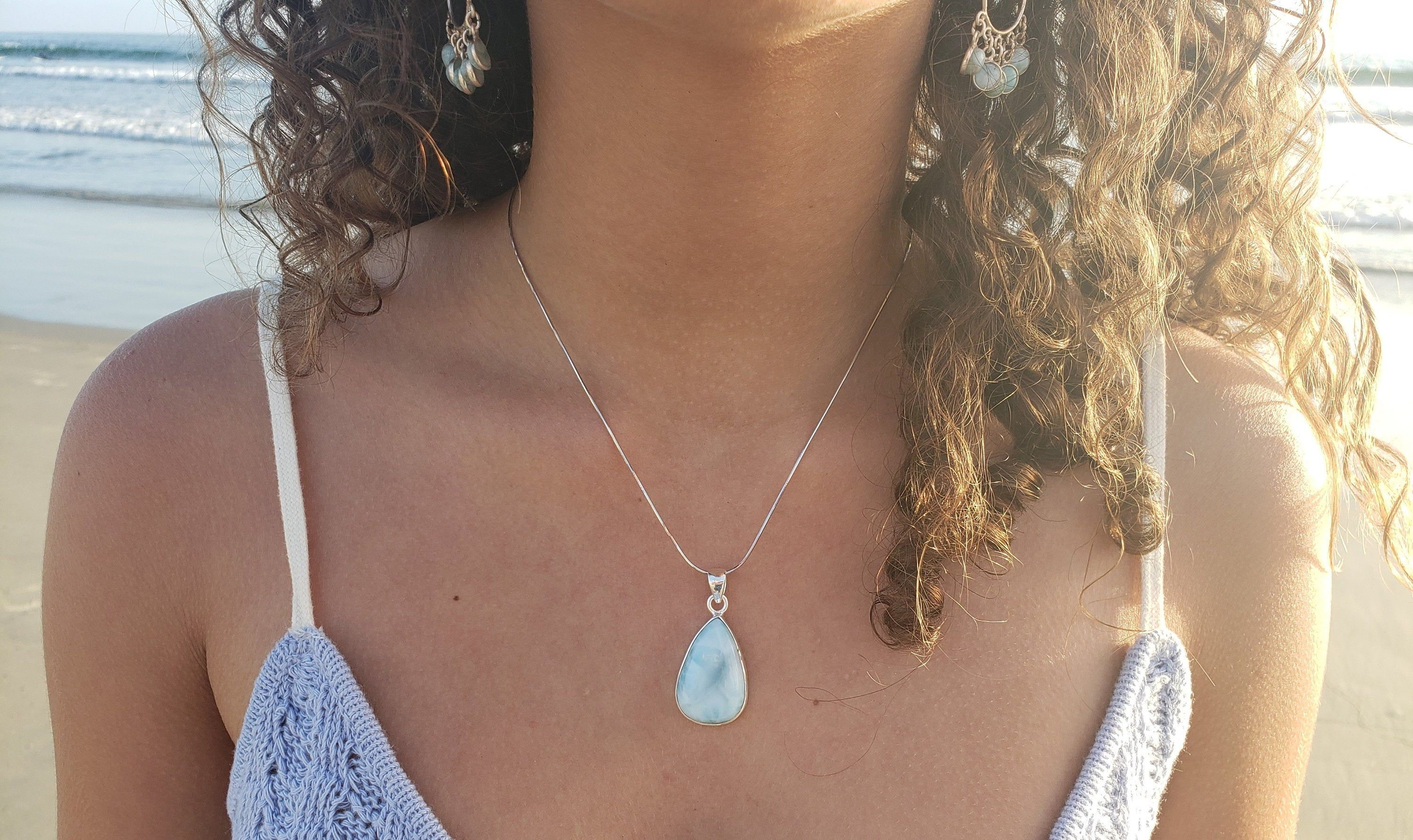 Beautiful Agate pendant Silver Necklace,Natural Gemstone Solid 925 Sterling Silver Jewelry,Teardrop pendant,Bohemian Pendant Boho Jewellry