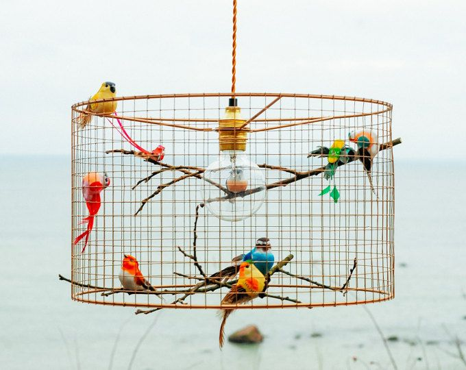 Copper Birdcage Pendant Light