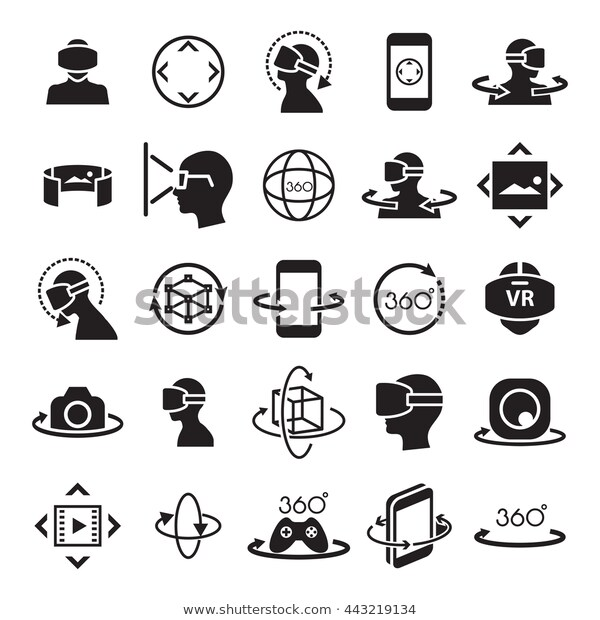 Virtual Reality Icon Symbol Stock Vector Royalty Free 443219134 Medical Icon Science Icons Health Icon