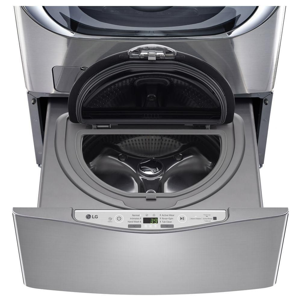 Lg Electronics 29 In 1 0 Cu Ft Sidekick Pedestal Washer With Twinwash System Compatibility In Graphite Steel House Home Laundry Appliances Front Load W