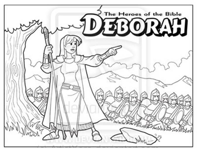 Coloring Pages About Deborah Bible Lesson Fs70 I 2010 356 7