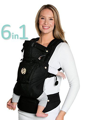 Noir Black 360/° Ergonomic Baby /& Child Carrier by LILLEbaby SIX-Position The COMPLETE Embossed Luxe