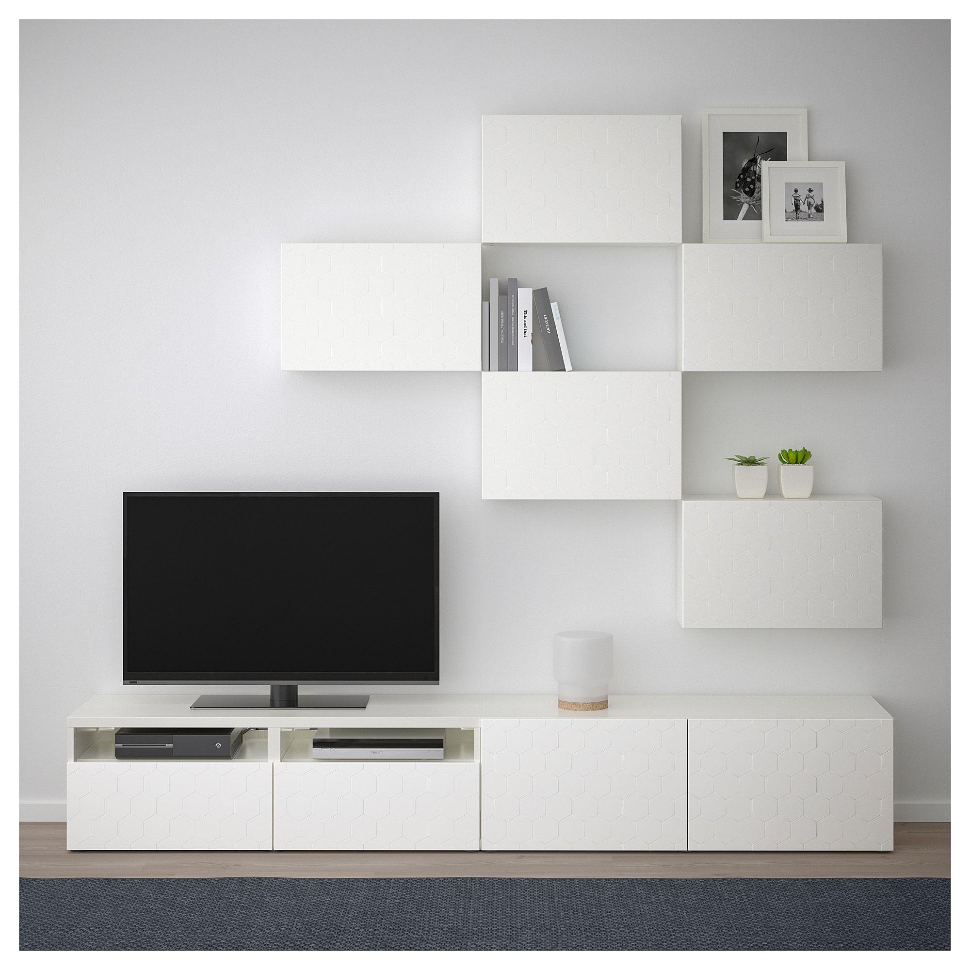 Besta Tv Mobel Kombination Weiss Vassviken Weiss Ikea