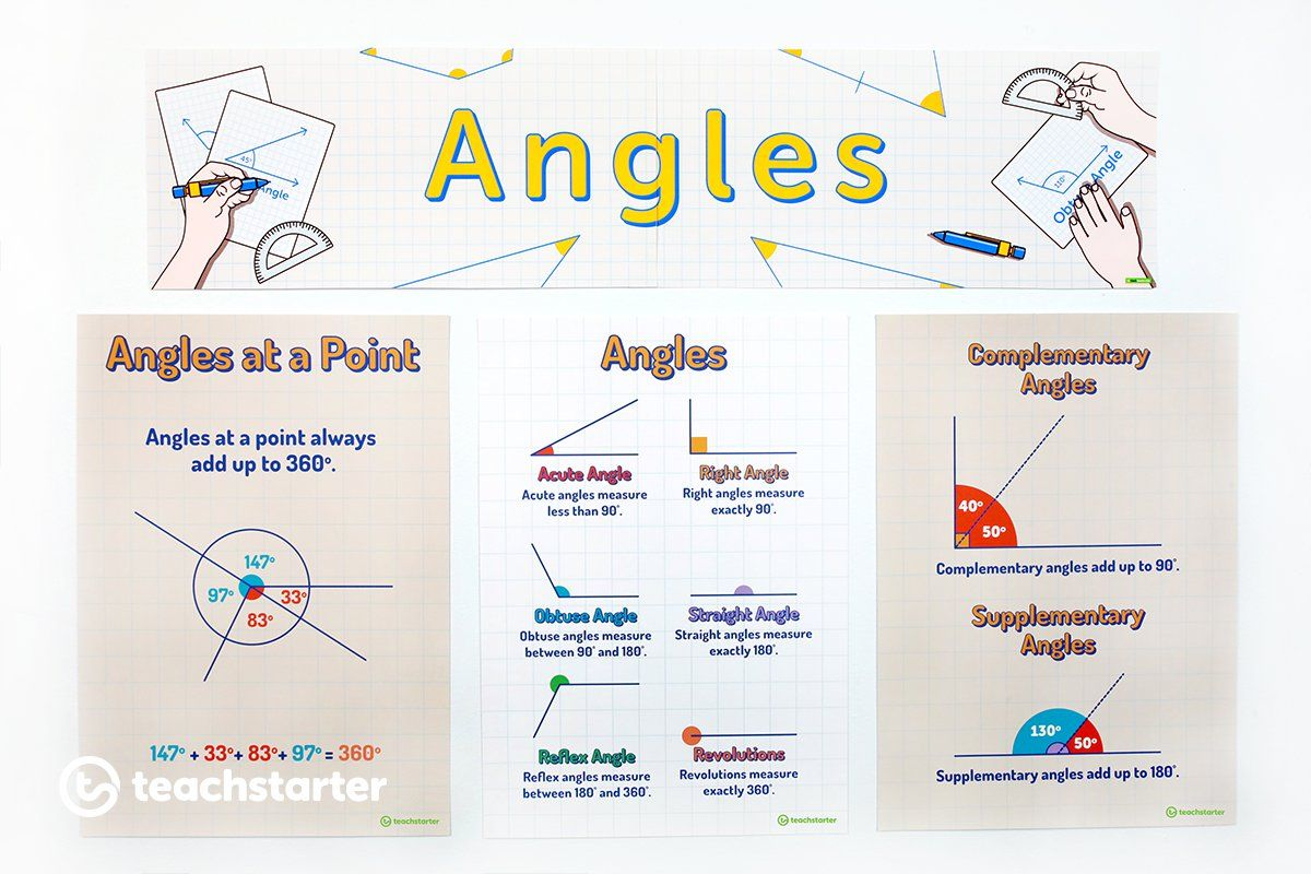 Angles Display Angle Activities Geometry Words Teaching Resources