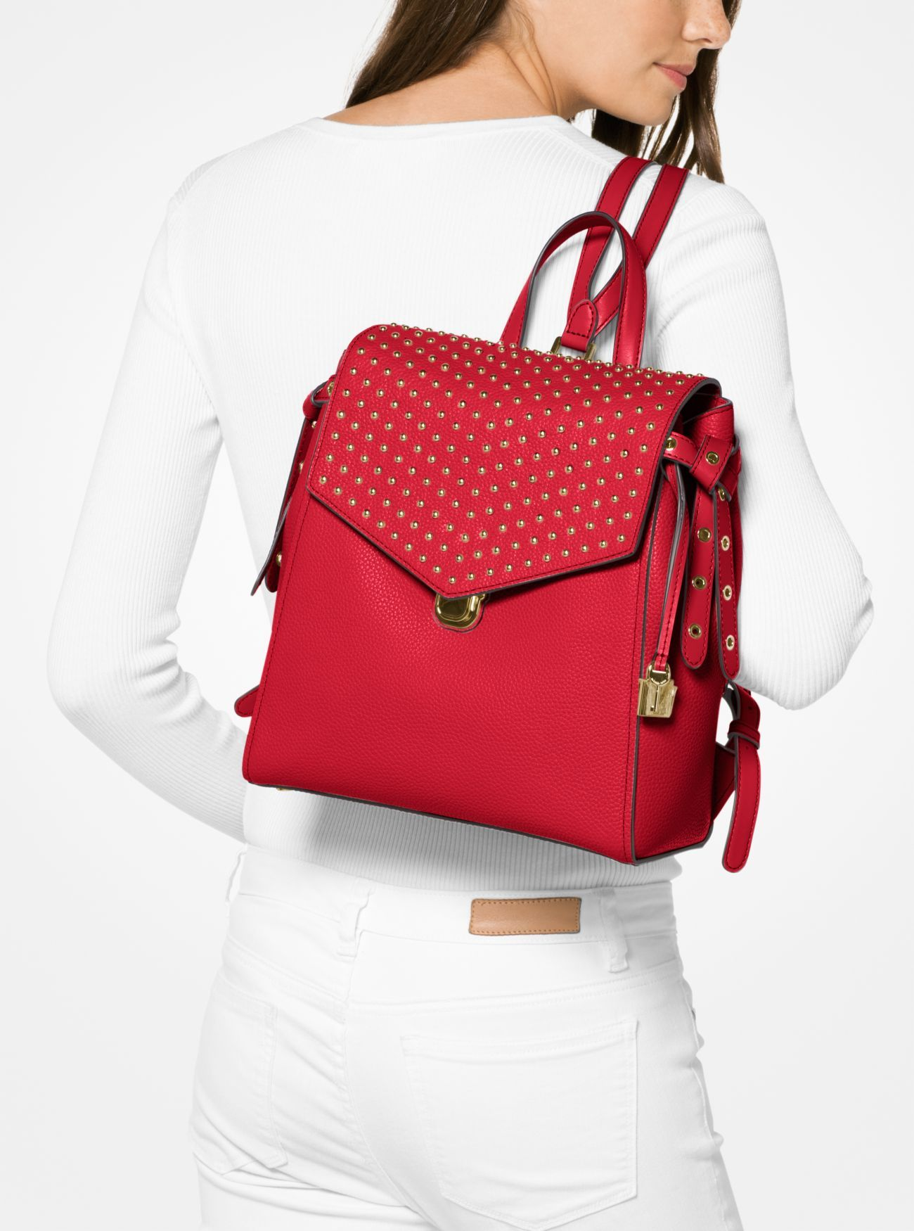 ed0367a865f47d Bristol Medium Studded Leather Backpack. Bristol Medium Studded Leather  Backpack Michael Kors ...
