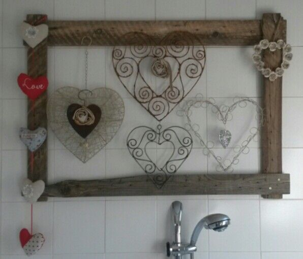 Pallet frame for my heart collection