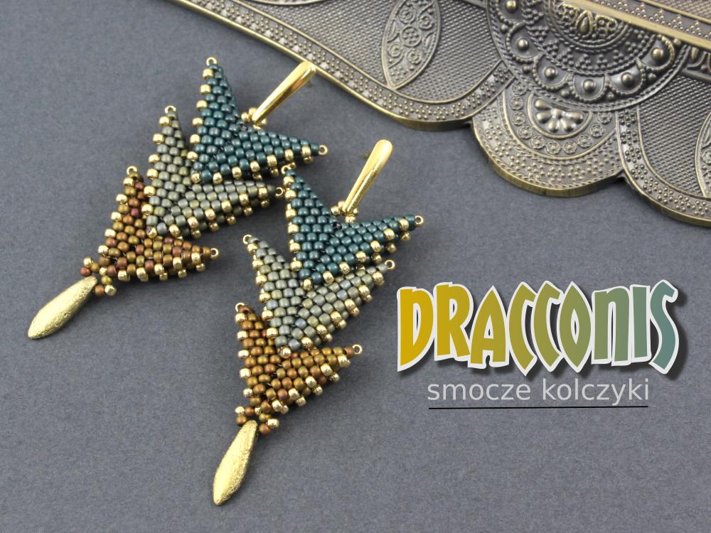 Dracconis – smocze kolczyki – tutorial | Royal-Stone blog