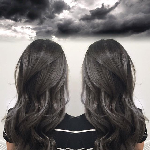 Smoky Charcoal Gray Hair Color by Janai Hartt hotonbeauty ...