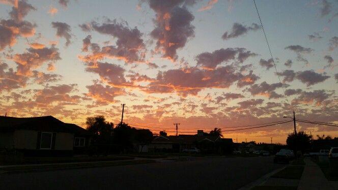 In California  Tuesday  evening sunset ! September 8.  2015