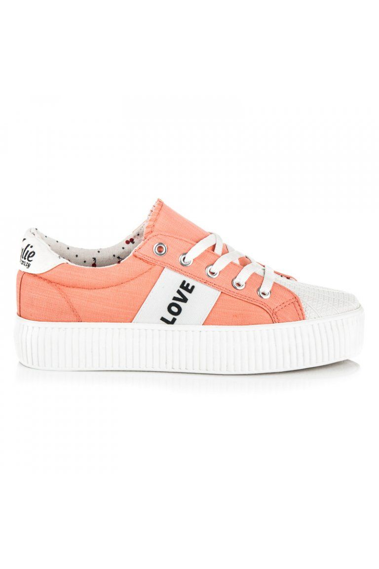 Oranžové tenisky na platforme LOVE   PEACE Kylie  eb95e5ad489