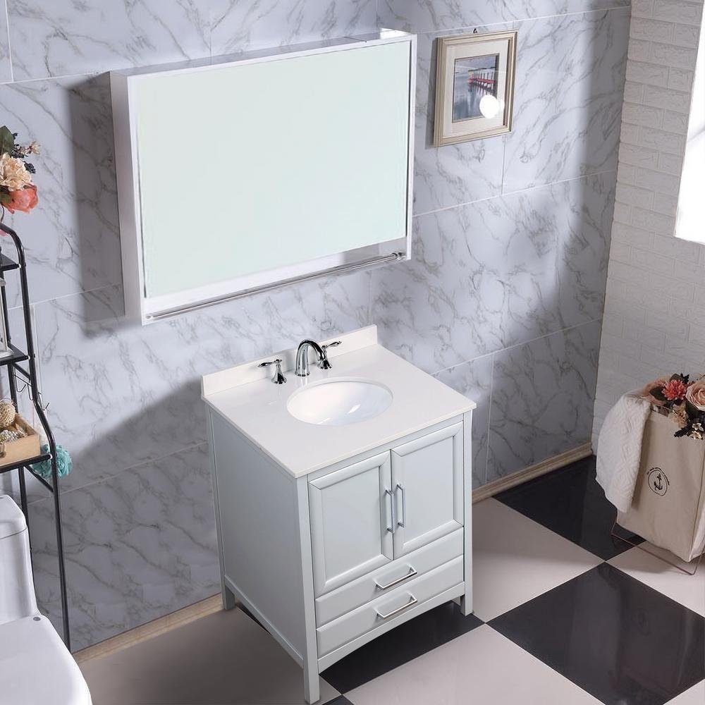 Vanity Art Rochefort 24 In W X 22 In D X 35 In H Bath Vanity