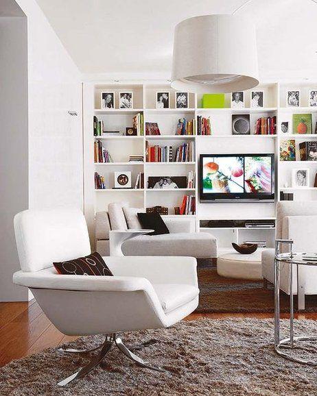 Un espacio para la televisi n pared televisor telas - Muebles para el televisor ...