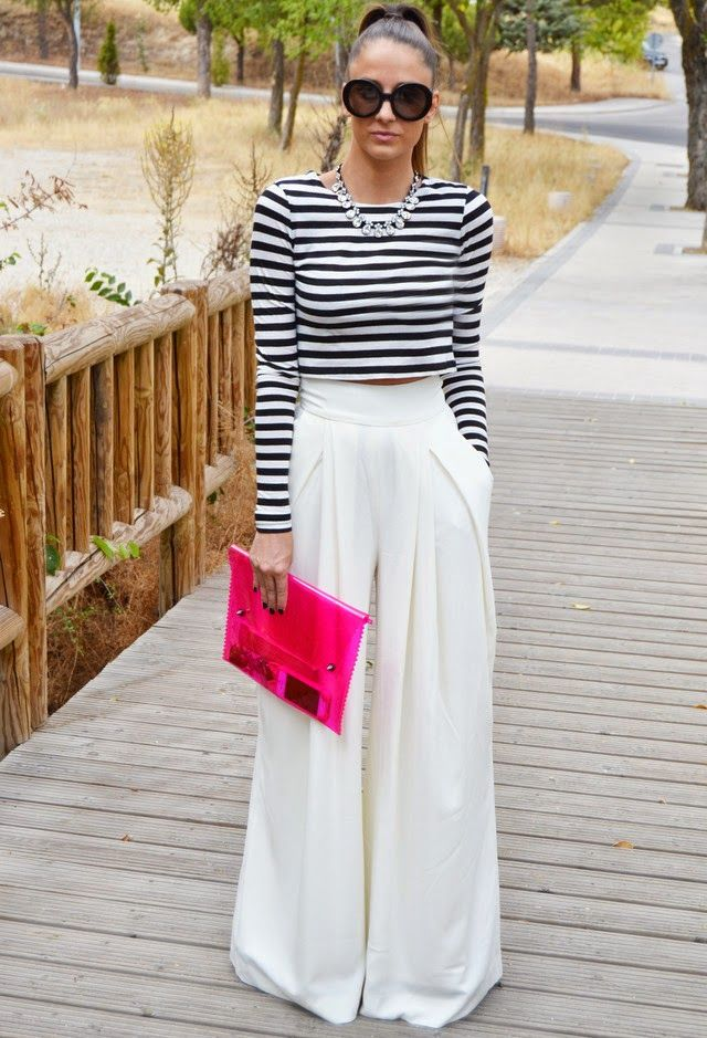 Ideas Of How To Wear Palazzo Pants Trendy Street Style Fashion Street Style Outfit